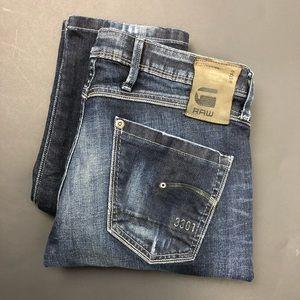 G-Star Raw 3301 Skinny Jean, Dark Aged Wash EUC